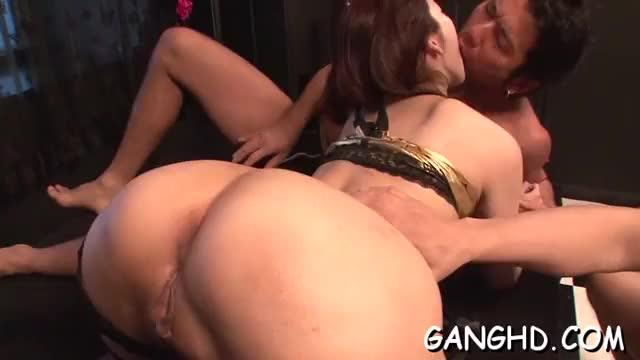 Delightsome japanese enjoys group fucking delights